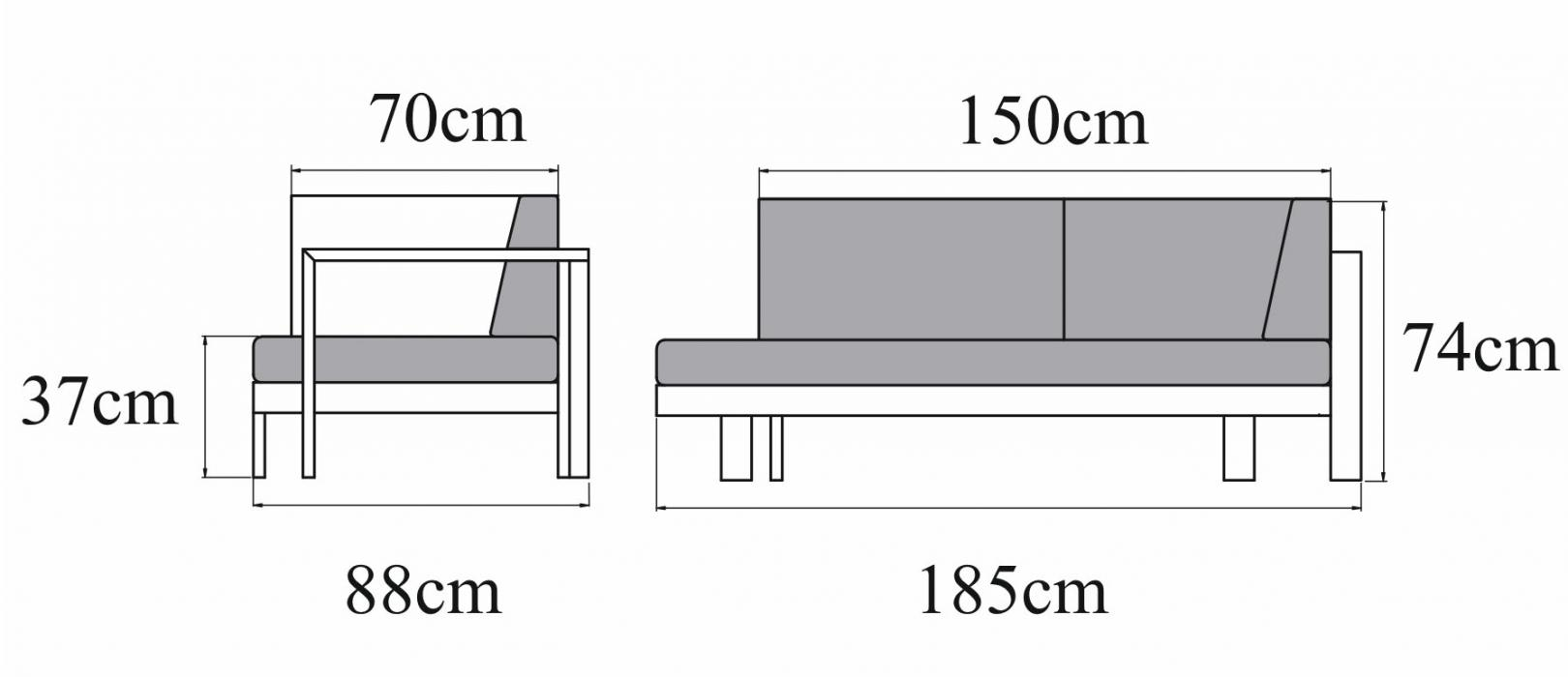 Sofa TOSCANIA 3-osobowa